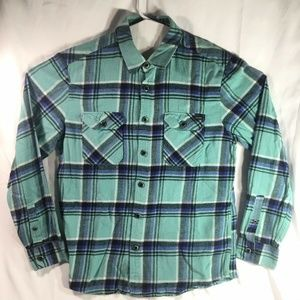 Teal Plaid Button up Flannel for Men's